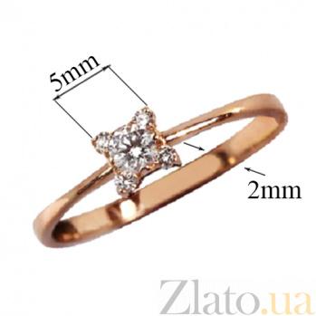 Золотое кольцо Кристин с бриллиантами 000019688