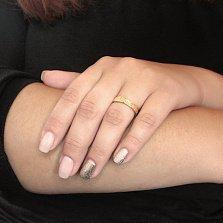 Серебряное кольцо с позолотой Левкада