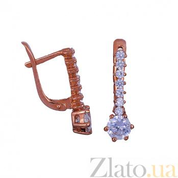 Детские золотые серьги с фианитами Сияние ONX--с01258