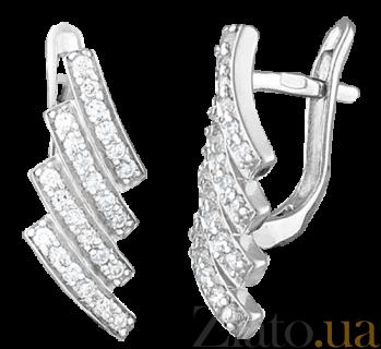 Серьги из серебра с фианитами Be Free SLX--С2Ф/085