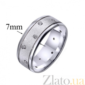 Золотое обручальное кольцо Счастливая история с цирконием TRF--4221114
