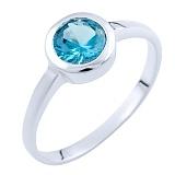 Серебряное кольцо Зухра с топазом лондон