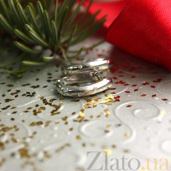 Серьги из белого золота с бриллиантами Крис ZMX--ED-8470w_K