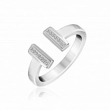 Серебряное кольцо Фелисити с кристаллами циркония в стиле Тиффани