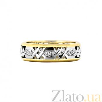 Кольцо из комбинированного золота с бриллиантами Солнечная колесница 000029734