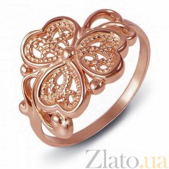 Кольцо из красного золота Цветущая весна 12520 с