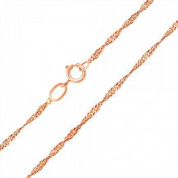 Ланцюжок із червоного золота, 1 мм 000104299