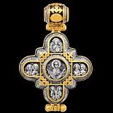 Серебряный мощевик с позолотой и чернением Святое писание