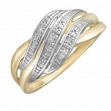 Кольцо Берлин из комбинированного золота с бриллиантами
