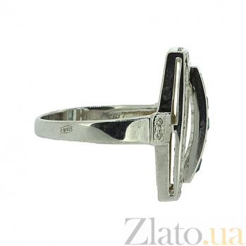 Серебряное кольцо с топазами и бриллиантами Сакварела ZMX--RDT-6160-Ag_K