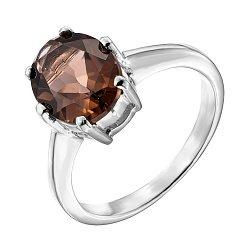 Серебряное кольцо с раухтопазом 000137580