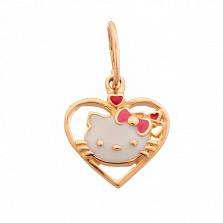 Золотой кулон Hello Kitty
