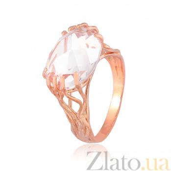 Позолоченное кольцо из серебра с цирконием Неофита 000028248