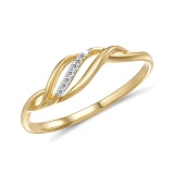 Кольцо из желтого золота с бриллиантами Айрис