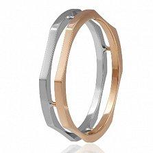 Золотое обручальное кольцо Модный стиль