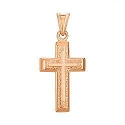 Крестик из красного золота 000145527