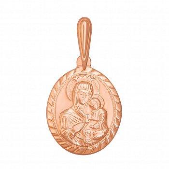 Ладанка из красного золота Божья Матерь 000126447