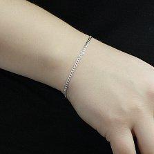 Серебряный браслет Элви в панцирном плетении, 2 мм