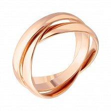 Обручальное кольцо из красного золота,3 мм