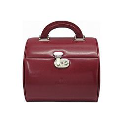 Красная многоярусная шкатулка для украшений WindRose Merino с зеркалом 000015231
