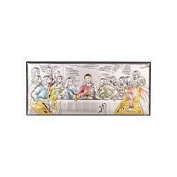 Икона Тайная вечеря в серебряном окладе с эмалью,170x70 000123595