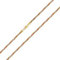 Серебряная цепочка с позолотой 000026324