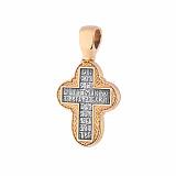 Серебряный крестик с позолотой и чернением Истина