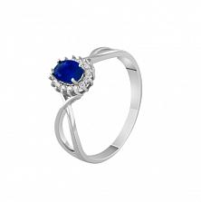 Золотое кольцо Нинет с сапфиром и бриллиантами