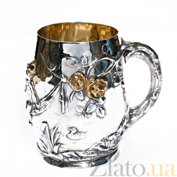 Серебряная чашка Ангелочки 275