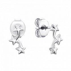 Серебряные серьги-пуссеты в стиле минимализм 000135207