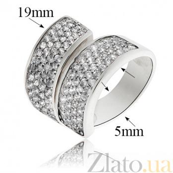 Серебряное кольцо Белая кошка 10000019