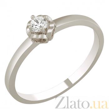 Кольцо из белого золота с фианитом Кальяри 000023197