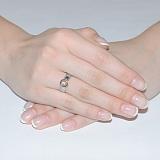 Золотое кольцо с цирконием Анна