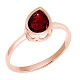 Кольцо в красном золоте Мелани с гранатом