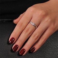 Кольцо из белого золота Звезда Сириус с бриллиантами