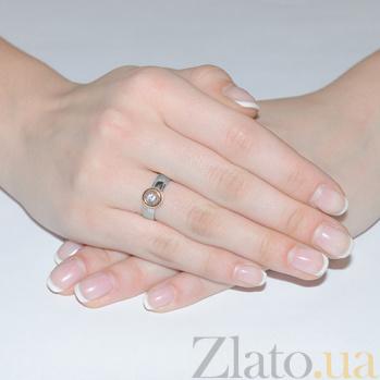 Золотое кольцо с цирконием Анна 3522586