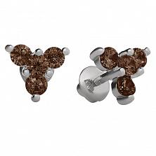 Серебряные серьги Декабрина с цирконием
