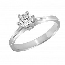 Кольцо из белого золота Обещание любви с бриллиантом
