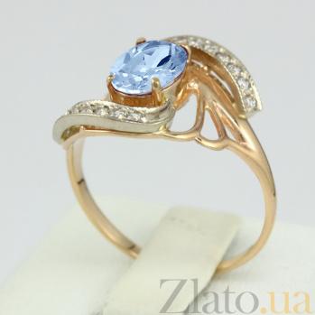Золотое кольцо с топазом и фианитами Вивиана VLN--112-841-1