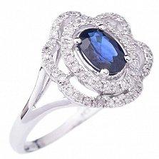Золотое кольцо с сапфиром и бриллиантами Калантия