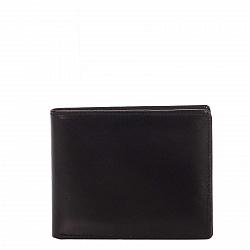 Кожаный кошелек-книжка Genuine Leather gf13 черного цвета