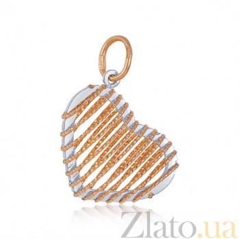 Золотая подвеска Сердцеедка EDM--ПД031