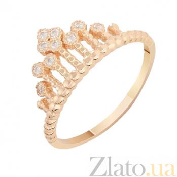 Золотое кольцо с фианитами Коронация 000023307