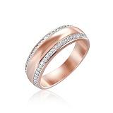 Серебряное кольцо Фабиана с позолотой и фианитами