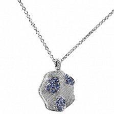 Золотой подвес с бриллиантами и сапфирами Снежинка