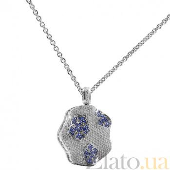 Золотой подвес с бриллиантами и сапфирами Снежинка KBL--П131