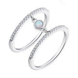 Серебряное кольцо с опалом и фианитами 000139660