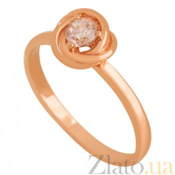 Золотое кольцо с фианитом Агота 000024345