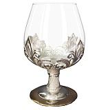 Бокал из серебра Романс со стеклом