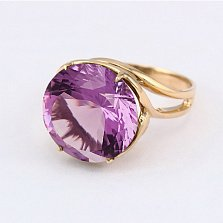 Золотое кольцо с аметистом Румия
